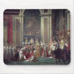 La consagración del emperador Napoleon Tapetes De Ratón