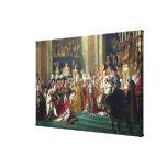 La consagración y Josephine de Napoleon Impresiones De Lienzo