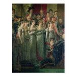 La consagración y Josephine de Napoleon Postal