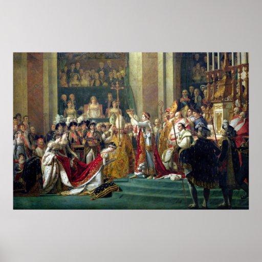 La consagración y Josephine de Napoleon Póster