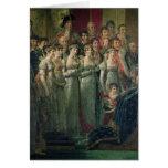 La consagración y Josephine de Napoleon Tarjeta De Felicitación