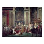 La consagración y Josephine de Napoleon Tarjetas Postales