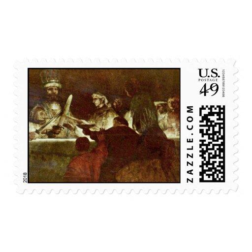 La conspiración de Batavians de Rembrandt Franqueo