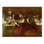La conspiración de Batavians de Rembrandt Harmensz Tarjetas Postales