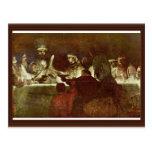 La conspiración de Batavians de Rembrandt Harmensz Tarjeta Postal