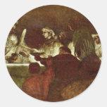 La conspiración de Batavians de Rembrandt Pegatinas Redondas