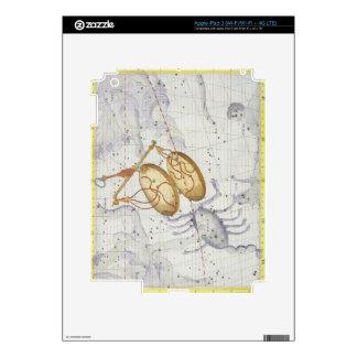 La constelación de libra, platea 7 del 'atlas Coel iPad 3 Pegatinas Skins