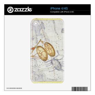 La constelación de libra, platea 7 del 'atlas Coel iPhone 4 Skin