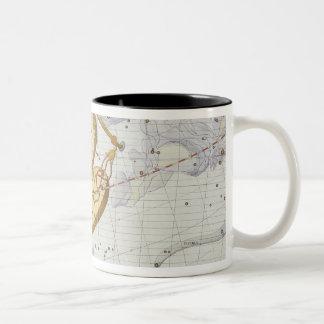 La constelación de libra, platea 7 del 'atlas taza de dos tonos