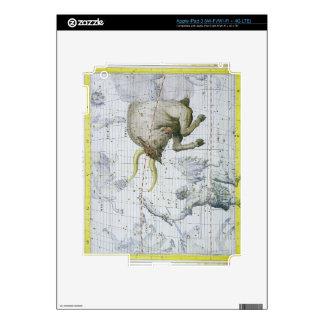 La constelación de tauro, platea 2 del 'atlas Coel iPad 3 Pegatinas Skins