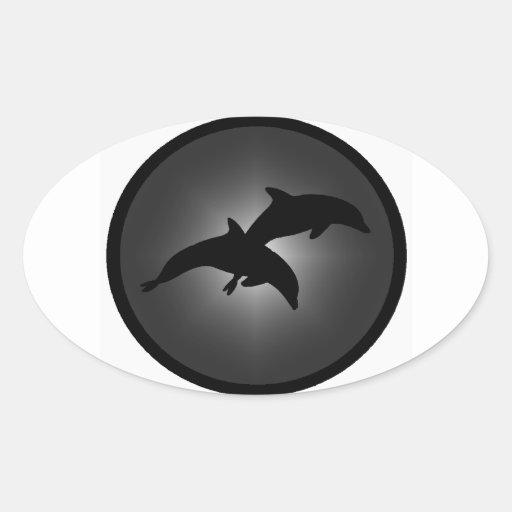 La constelación del delfín calcomania ovaladas personalizadas