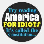 La constitución: América para los idiotas Etiqueta Redonda