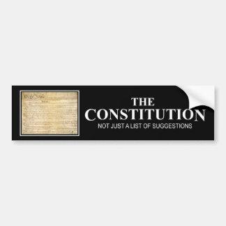 La constitución pegatina de parachoque