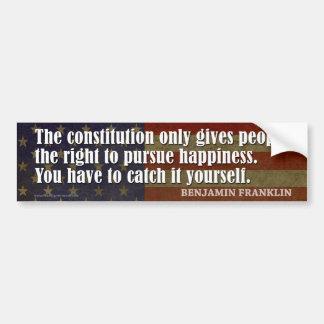 La constitución da a gente el derecho… pegatina para auto
