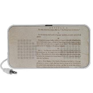 La constitución de Estados Unidos, 1787 Mini Altavoces