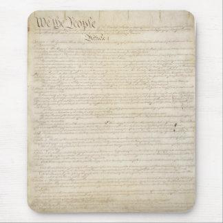 La constitución de Estados Unidos Mouse Pads