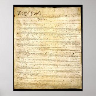 La constitución de los E.E.U.U. Poster