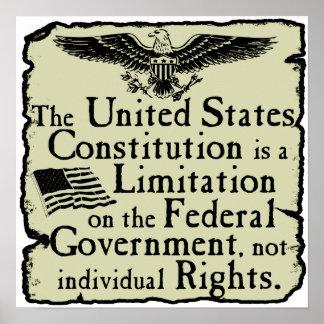 La constitución de los E.E.U.U. Póster