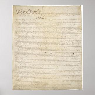 La constitución de los Estados Unidos de América Poster