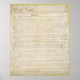 La constitución de los Estados Unidos de América Posters