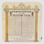 La constitución de los Estados Unidos de América Pegatinas Cuadradases