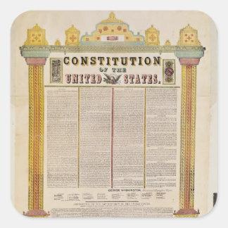 La constitución de los Estados Unidos de América Pegatina Cuadrada