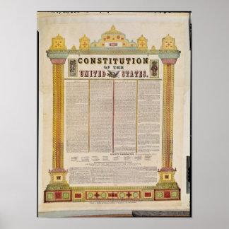 La constitución de los Estados Unidos de América Póster