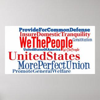 La constitución de los Estados Unidos de América r Póster