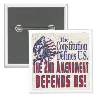 La constitución define la enmienda de los E.E.U.U. Pins