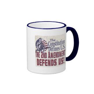 La constitución define la enmienda de los E.E.U.U. Tazas De Café