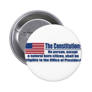 La constitución dice…. pin redondo de 2 pulgadas