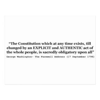 La constitución es sagrado obligatoria sobre todos tarjeta postal