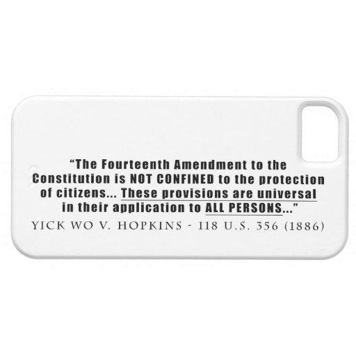 La constitución se aplica a TODAS LAS PERSONAS Funda Para iPhone SE/5/5s