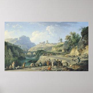 La construcción de un camino, 1774 impresiones