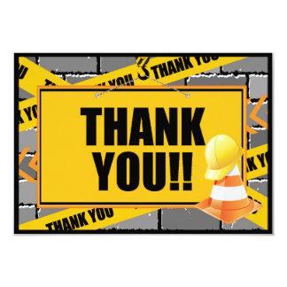 """La construcción le agradece las tarjetas invitación 3.5"""" x 5"""""""