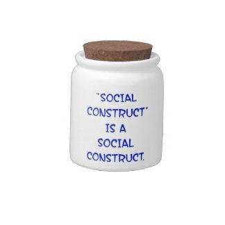 La construcción social es una construcción socia jarras para caramelos