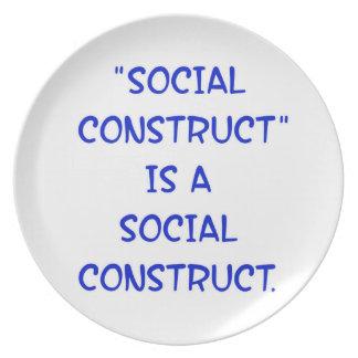 """La """"construcción social"""" es una construcción socia plato para fiesta"""