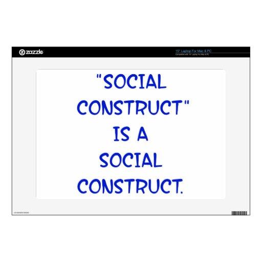 """La """"construcción social"""" es una construcción socia 38,1cm portátil calcomanía"""