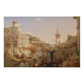 La consumación del imperio por el col de Thomas Cuadros De Madera