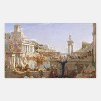 La consumación del imperio por el col de Thomas Pegatina Rectangular