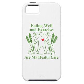 La consumición bien y ejercicio es mi atención iPhone 5 protectores