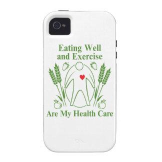 La consumición bien y ejercicio es mi atención Case-Mate iPhone 4 fundas