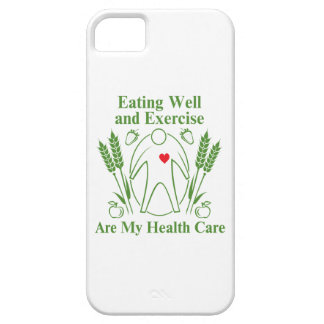 La consumición bien y ejercicio es mi atención iPhone 5 cobertura