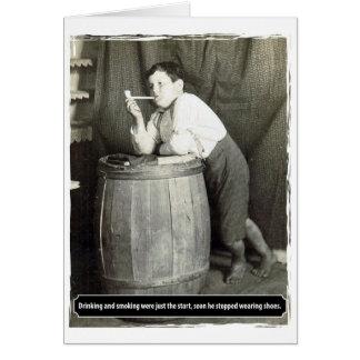 La consumición y el fumar eran apenas el comienzo felicitación