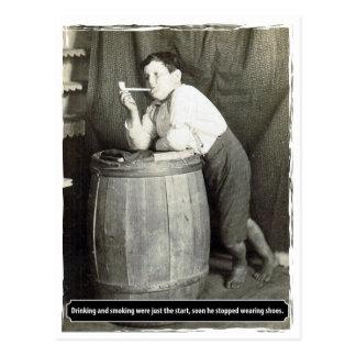 La consumición y el fumar eran apenas el comienzo tarjeta postal