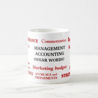 ¡La contabilidad de gestión jura palabras! Taza