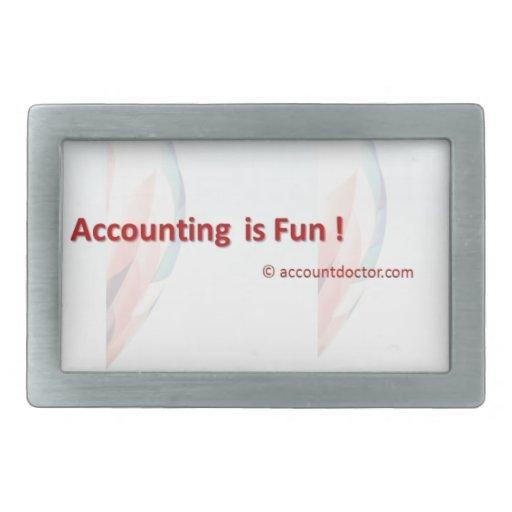 La contabilidad es diversión hebilla de cinturón rectangular