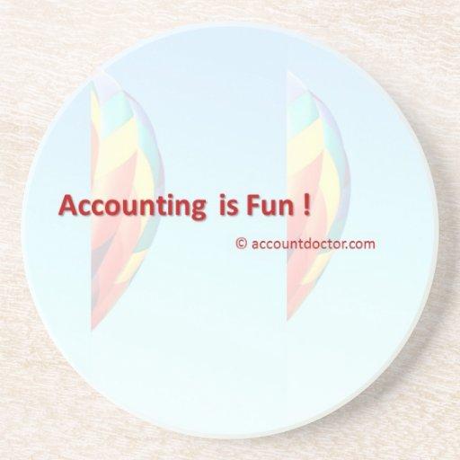La contabilidad es diversión posavasos cerveza
