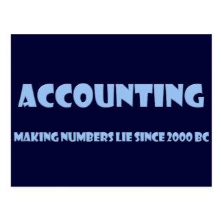 La contabilidad hace mentira de los números postal