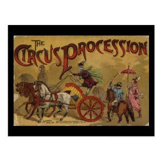 La contraportada de la procesión del circo postal